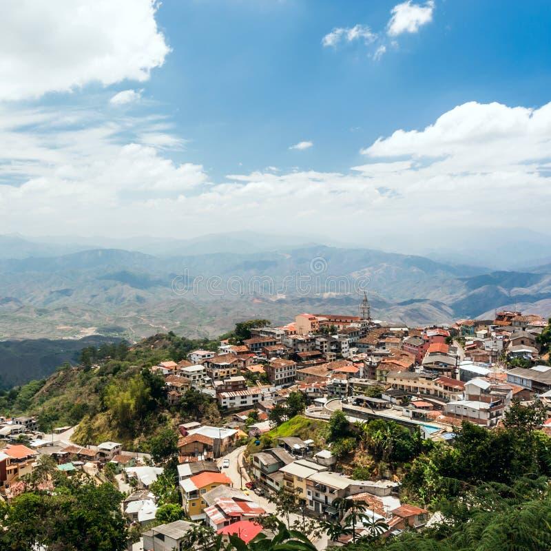 Zaruma -采金矿工镇在安地斯,厄瓜多尔 免版税库存照片