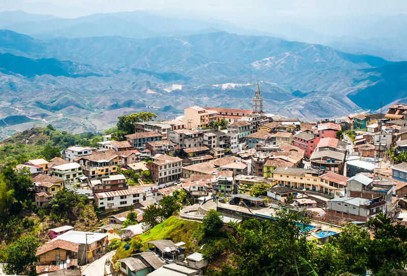 Zaruma - Town in the Andes, Ecuador royalty free stock photo