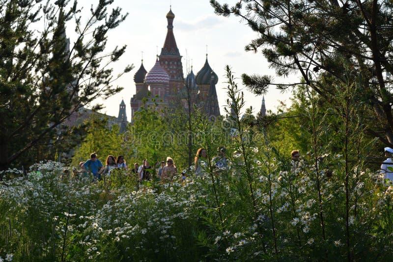 Zaryadye公园在莫斯科俄罗斯 免版税库存图片
