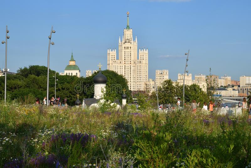Zaryadyepark in Moskou Rusland stock afbeelding