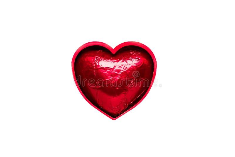 Zarysowany czerwony serce w folii zdjęcia royalty free