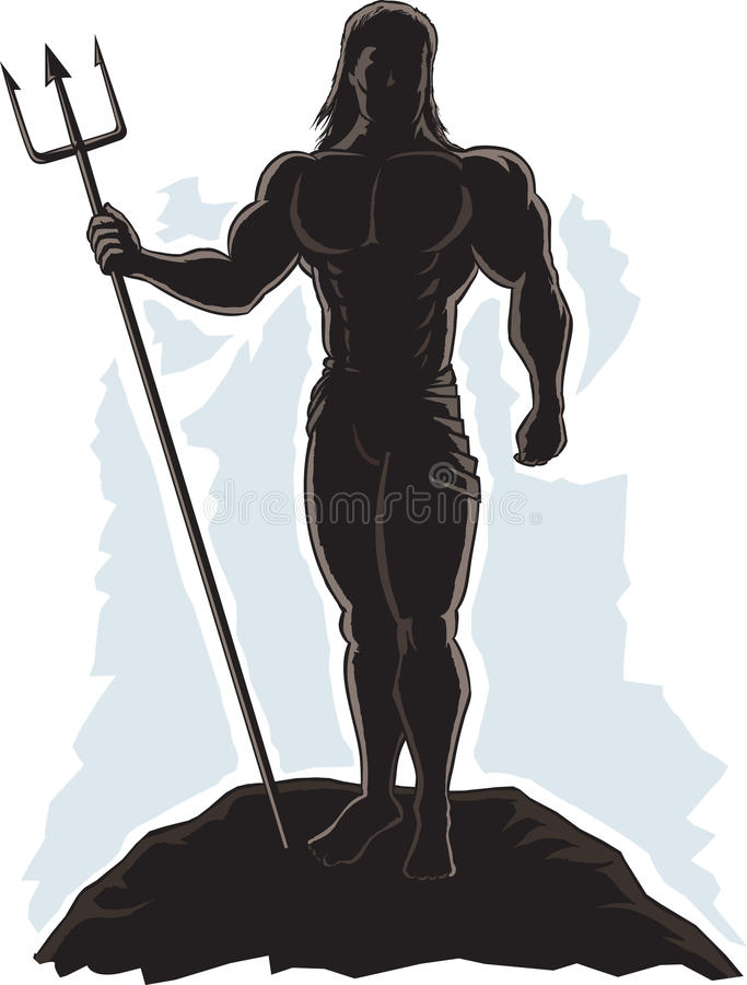 Zarysowany królewiątko Neptune ilustracja wektor