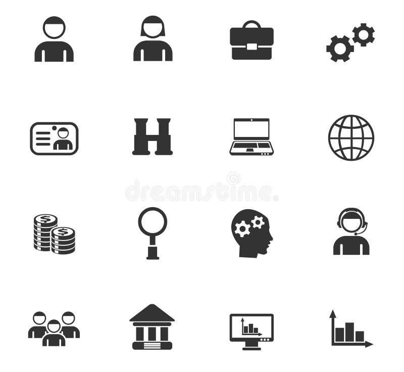 Zarządzanie ikony set ilustracji
