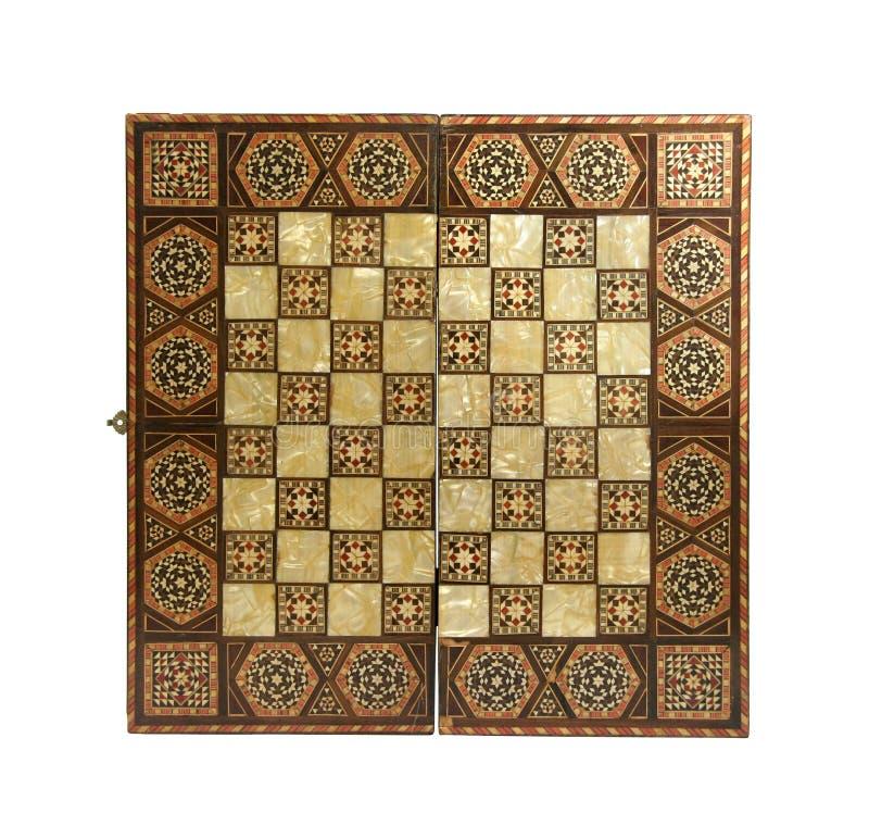zarządu antique chess fotografia stock