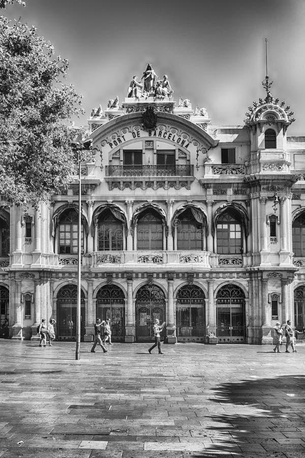 Zarządu portu budynek w Barcelona, Catalonia, Hiszpania obraz stock