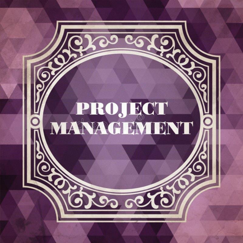 Zarządzania Projektem pojęcie Rocznika projekt royalty ilustracja