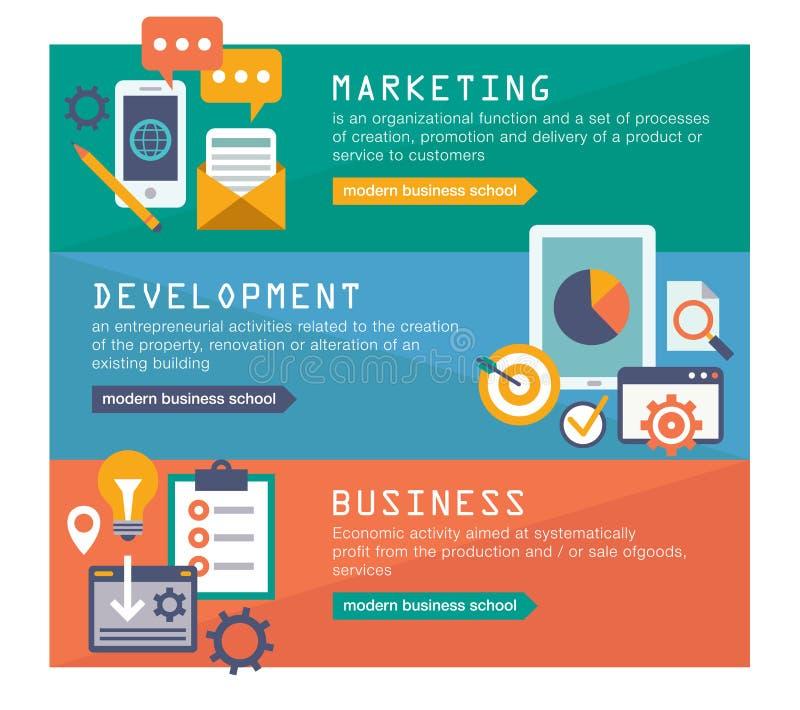 Zarządzania srartup cyfrowy marketingowy planowanie royalty ilustracja