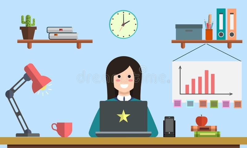 Zarządzania srartup cyfrowych marketingowych planistycznych analityka projekta kreatywnie drużynowy wynagrodzenie na stuknięcia s ilustracja wektor