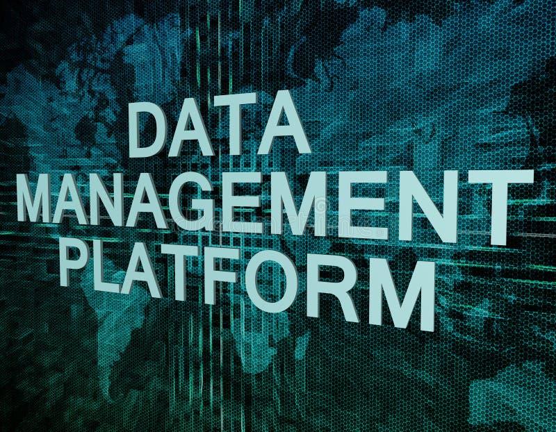 Zarządzanie Danymi platforma ilustracja wektor
