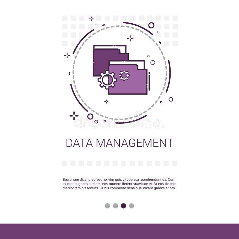 Zarządzanie Danymi sieci Zadowolony Marketingowy sztandar Z kopii przestrzenią royalty ilustracja