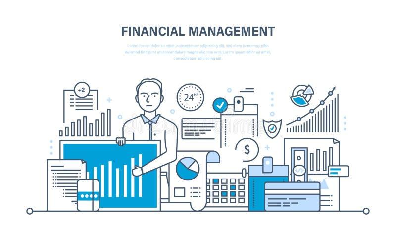Zarządzanie finansami, analiza, badanie rynku, depozyty, wkłady i savings, ilustracji
