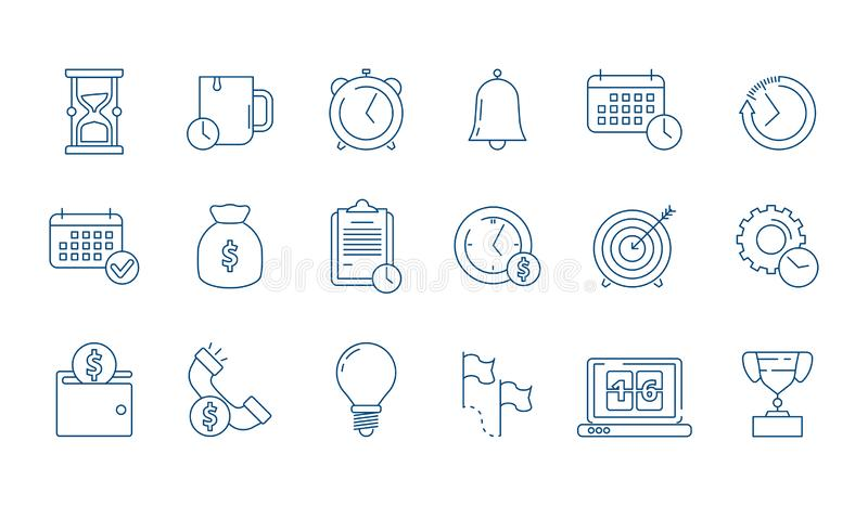 Zarządzanie ikona E royalty ilustracja
