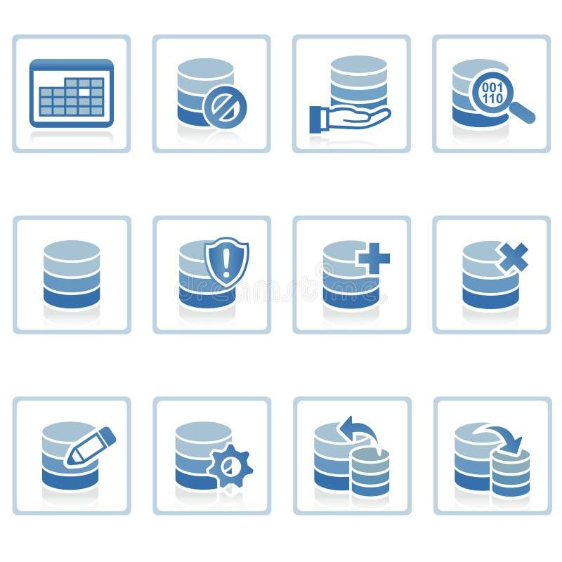 zarządzanie ikony bazy danych. royalty ilustracja