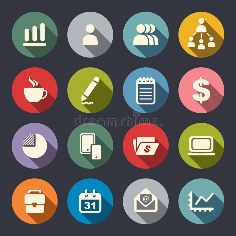 Zarządzanie ikony set ilustracja wektor