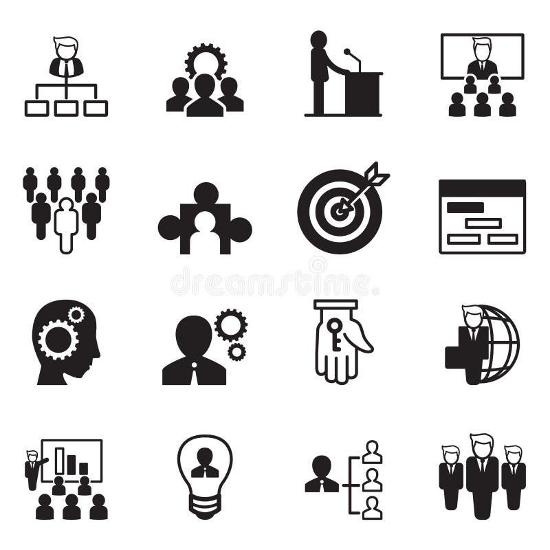 Zarządzanie ikony set royalty ilustracja