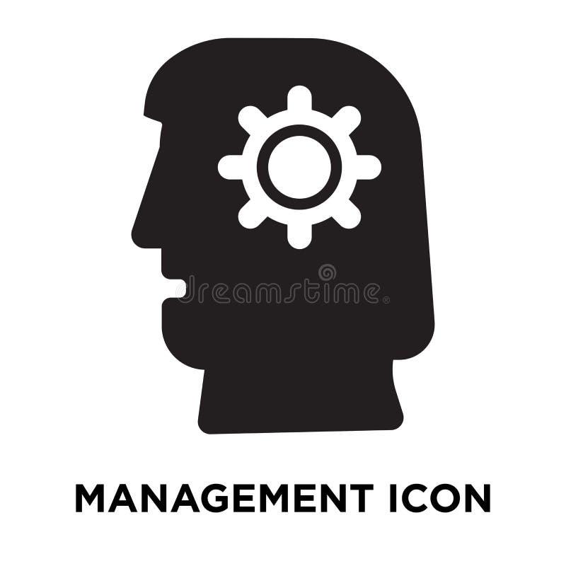 Zarządzanie ikony wektor odizolowywający na białym tle, loga concep ilustracja wektor
