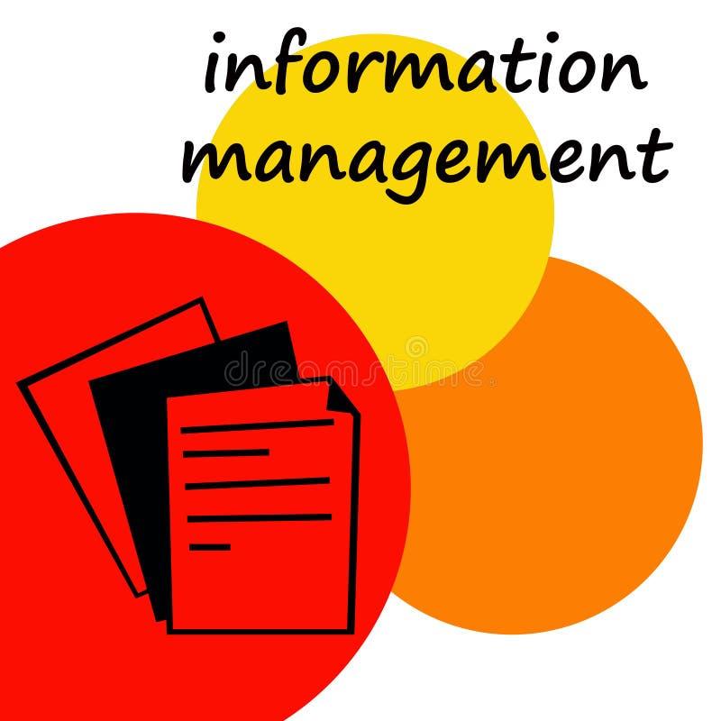 zarządzanie informacją ilustracja wektor