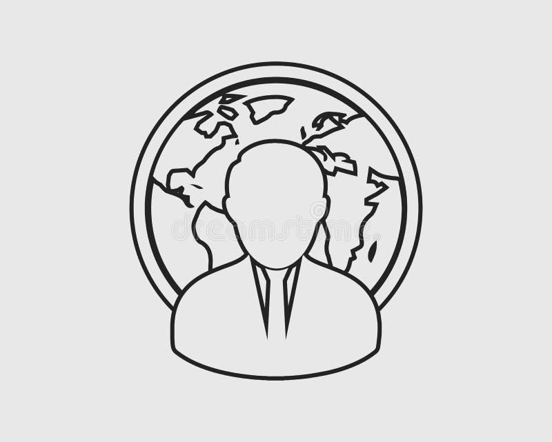Zarządzanie kreskowa ikona ilustracji