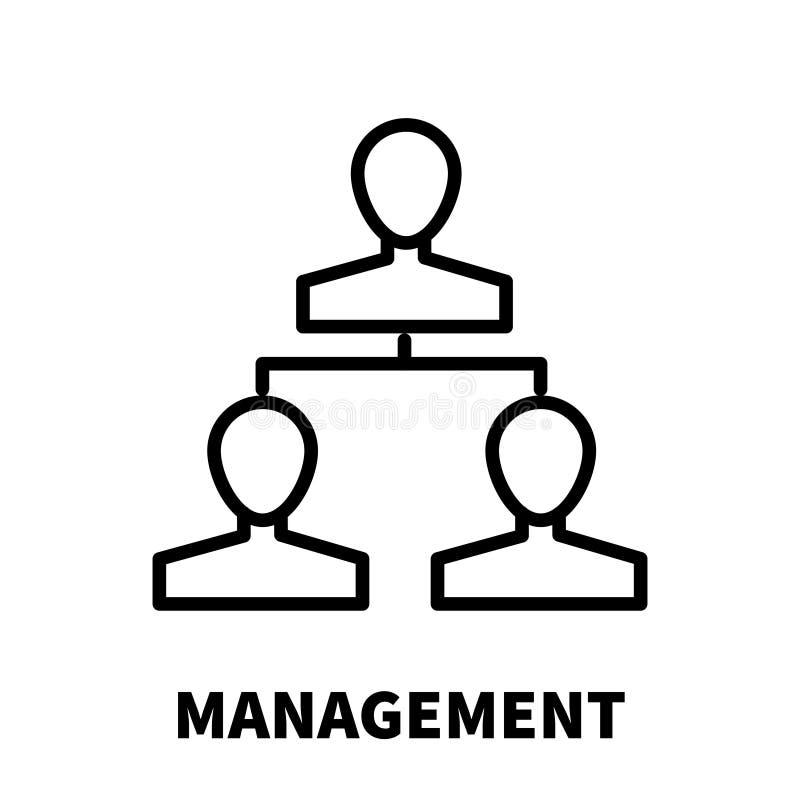 Zarządzanie logo w nowożytnym kreskowym stylu lub ikona ilustracja wektor