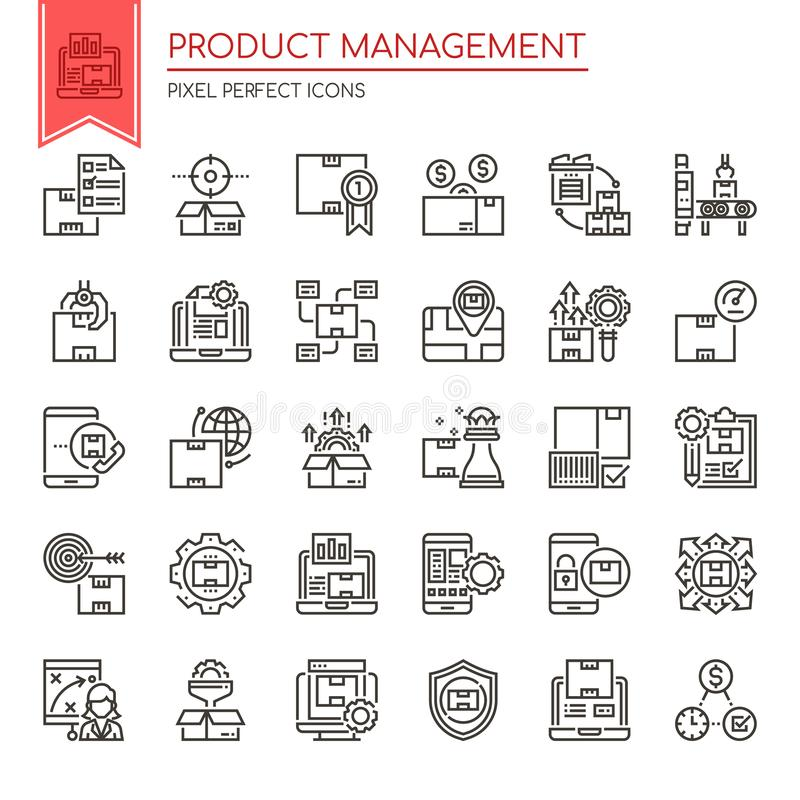 Zarządzanie Produktem royalty ilustracja