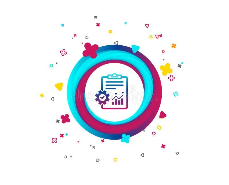 Zarządzanie projektem ikona Raportowy dokumentu symbol ilustracja wektor