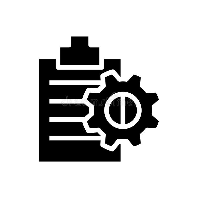 Zarządzanie Projektem ikona, wektorowa ilustracja royalty ilustracja