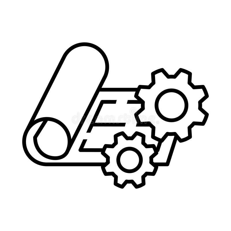 Zarządzanie Projektem ikona, wektorowa ilustracja ilustracja wektor