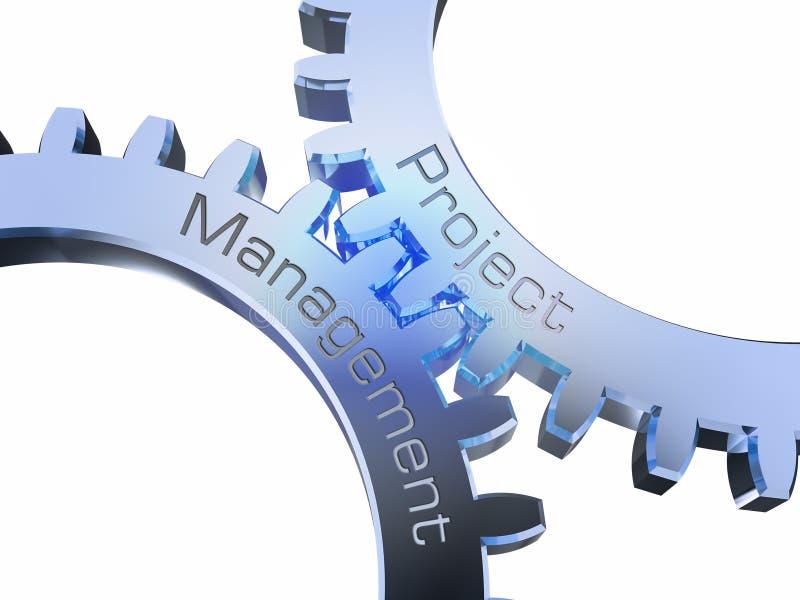 Zarządzanie Projektem na gearwheels royalty ilustracja