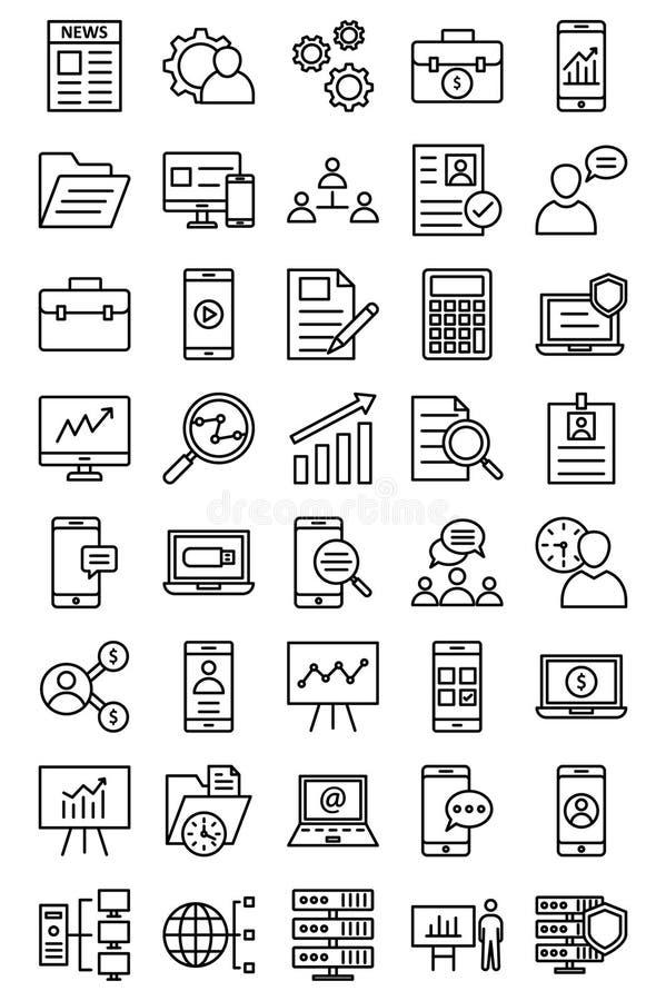 Zarządzanie projektem Odosobniona Wektorowa ikona ilustracji
