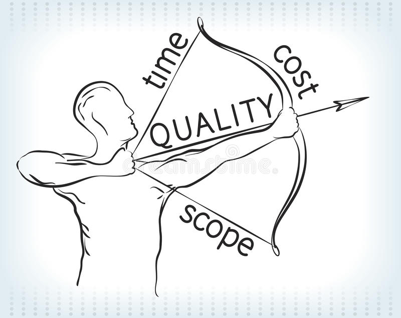 Zarządzanie Projektem trójbok Archer ilustracja wektor