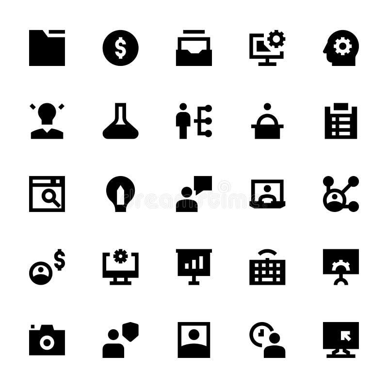 Zarządzanie Projektem Wektorowe ikony 1 ilustracji