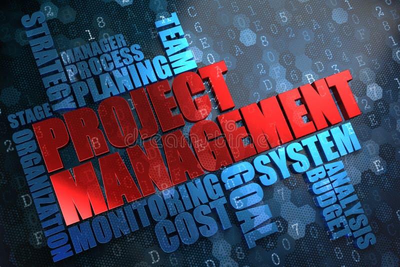 Zarządzanie Projektem. Wordcloud pojęcie. ilustracja wektor