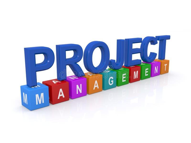 Zarządzanie projektem znak ilustracji