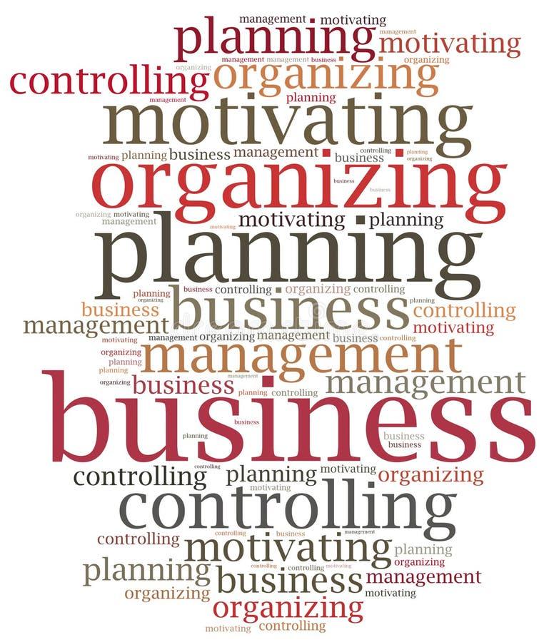 Zarządzanie przedsiębiorstwem funkcje Słowo obłoczna ilustracja ilustracja wektor
