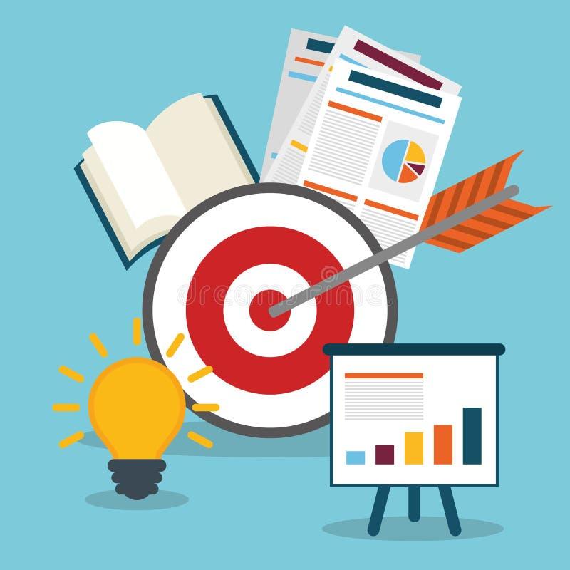 Zarządzanie przedsiębiorstwem grafika ilustracja wektor