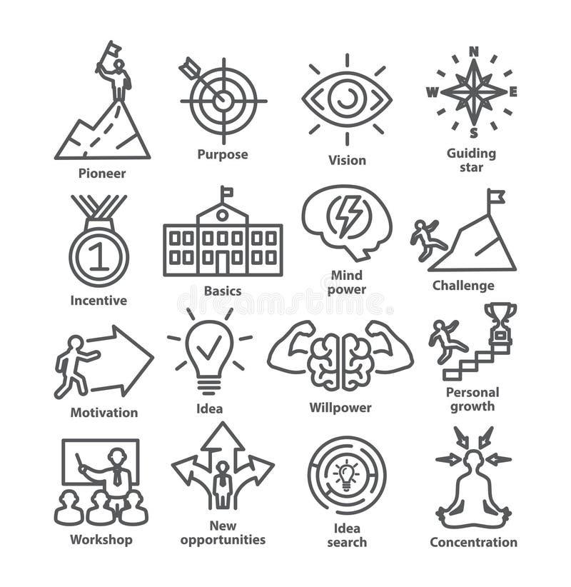 Zarządzanie przedsiębiorstwem ikon kreskowa paczka 41 royalty ilustracja