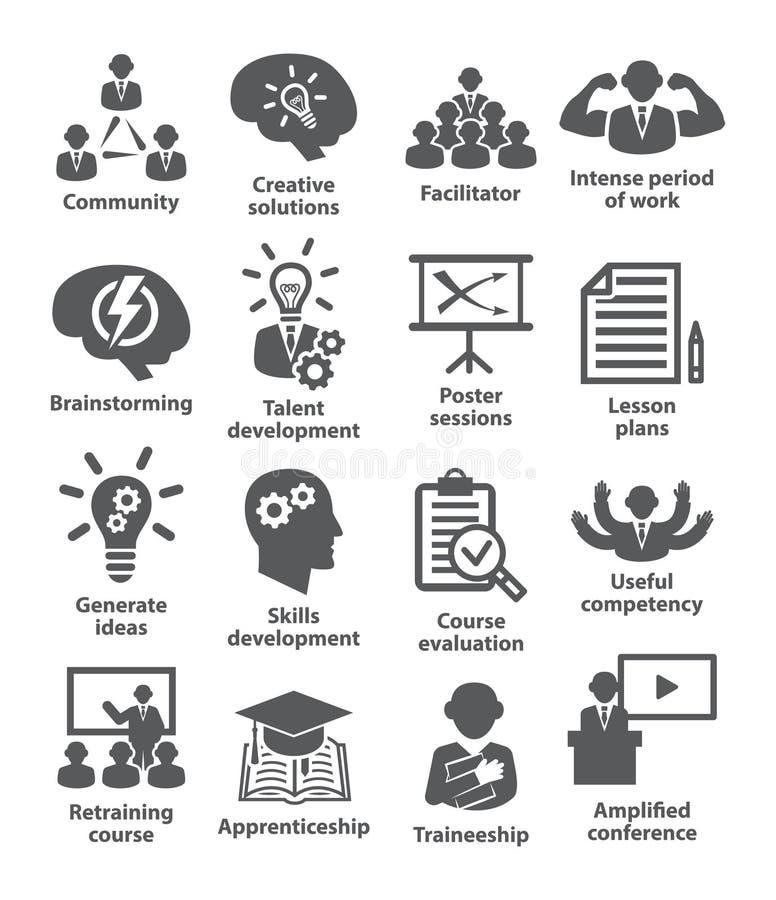 Zarządzanie przedsiębiorstwem ikon paczka 31 ilustracji
