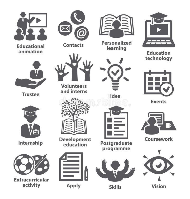 Zarządzanie przedsiębiorstwem ikon paczka 35 ilustracja wektor