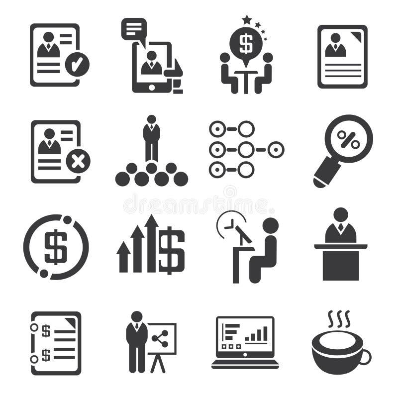 Zarządzanie przedsiębiorstwem ikony ilustracji