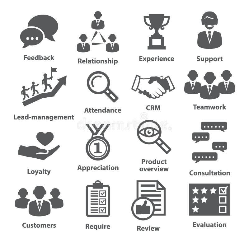 Zarządzanie przedsiębiorstwem ikony Paczka 03 royalty ilustracja