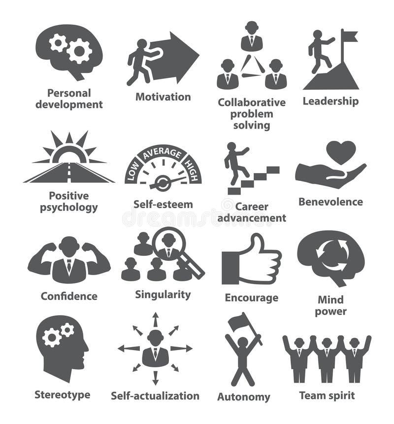 Zarządzanie przedsiębiorstwem ikony Paczka 16 ilustracja wektor