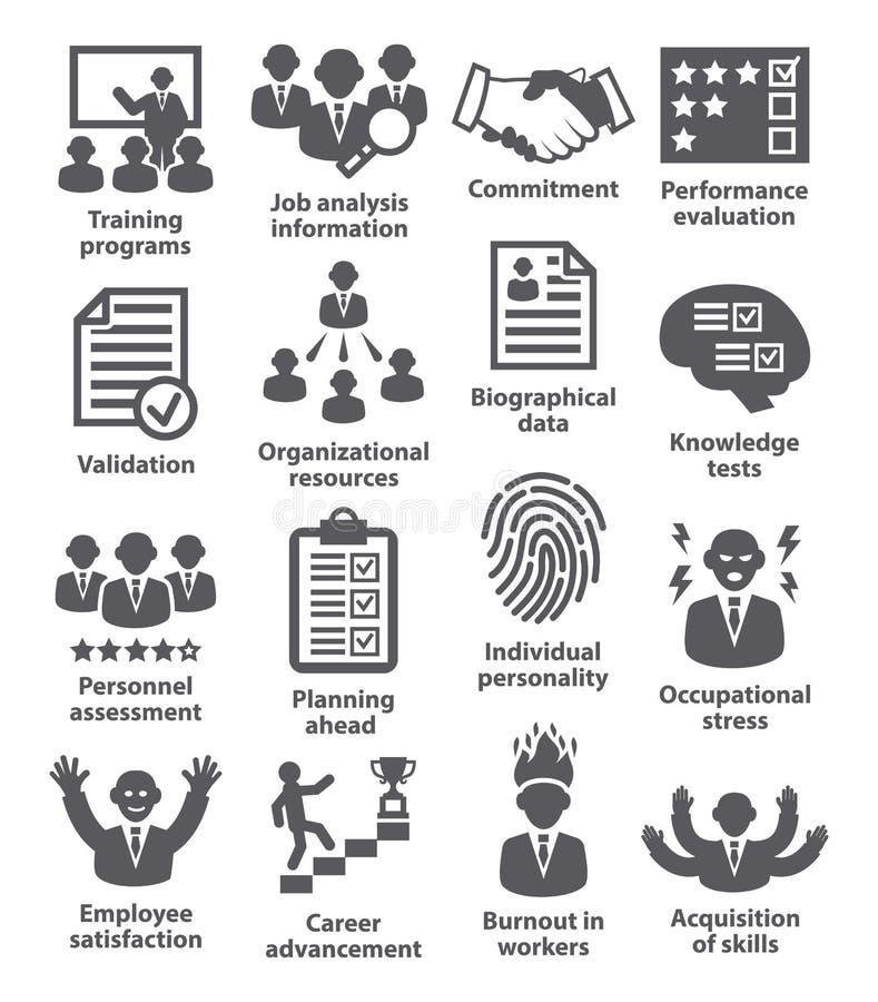 Zarządzanie przedsiębiorstwem ikony Paczka 23 royalty ilustracja