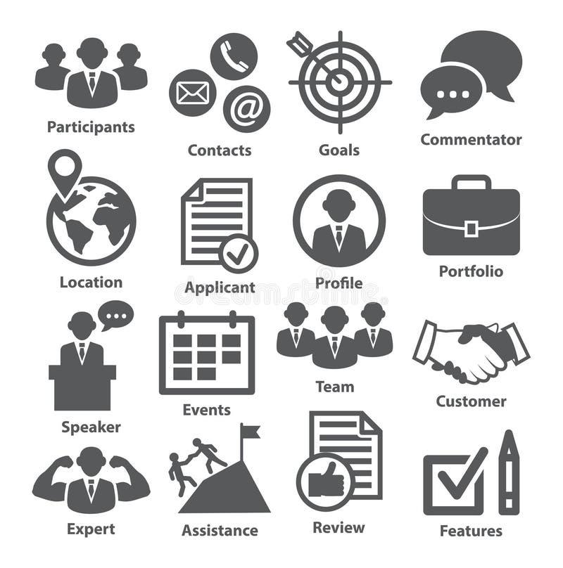 Zarządzanie przedsiębiorstwem ikony Paczka 25 royalty ilustracja