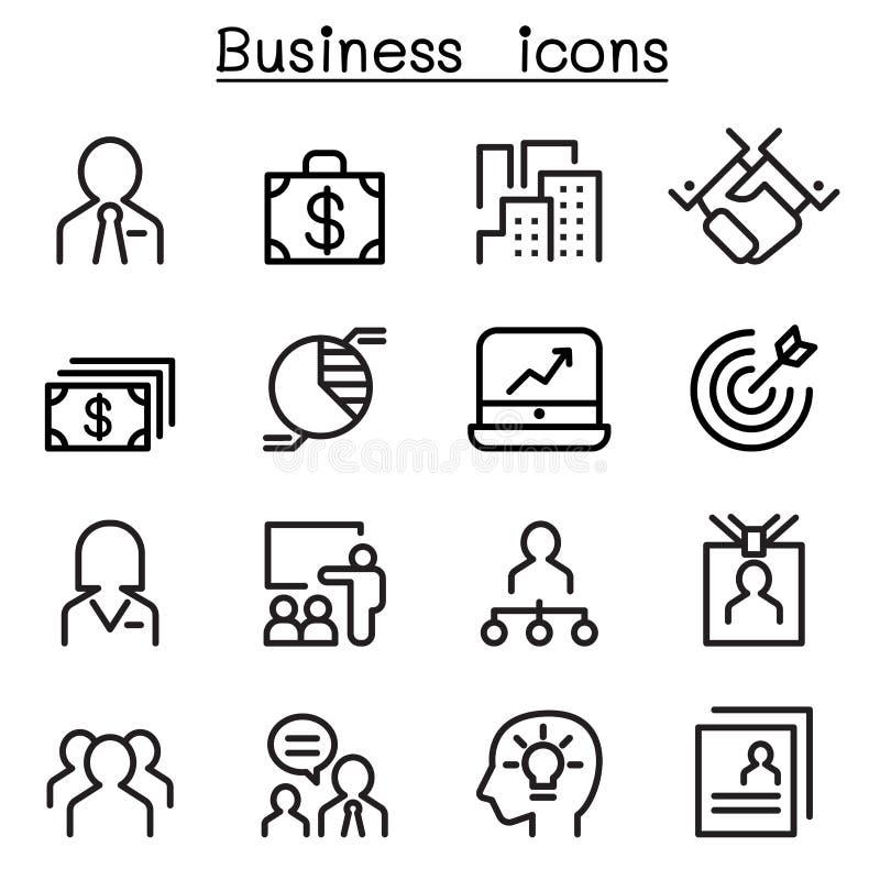 Zarządzanie Przedsiębiorstwem ikony set royalty ilustracja