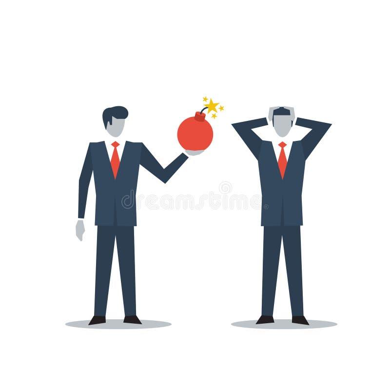 Zarządzanie przedsiębiorstwem w kryzysie royalty ilustracja
