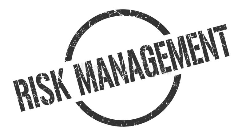 Zarządzanie ryzykiem znaczek ilustracja wektor