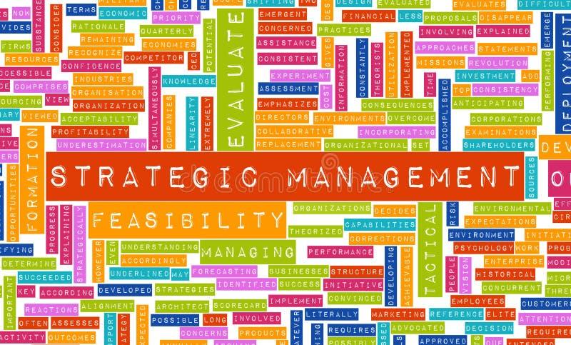 zarządzanie strategiczny ilustracja wektor