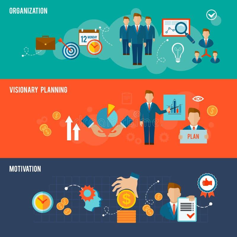 Zarządzanie sztandaru set royalty ilustracja