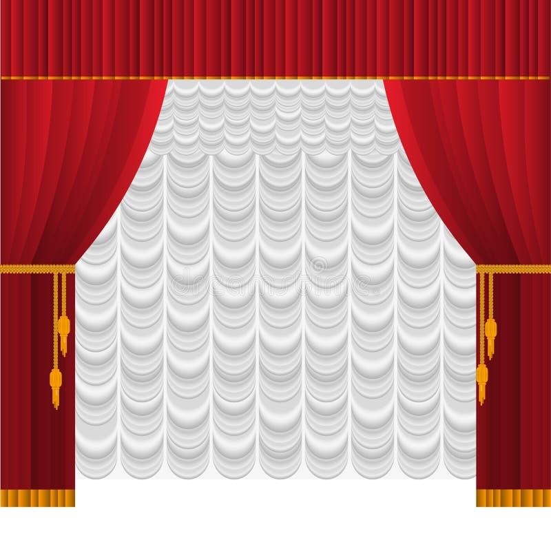 Zasłona na scenie royalty ilustracja