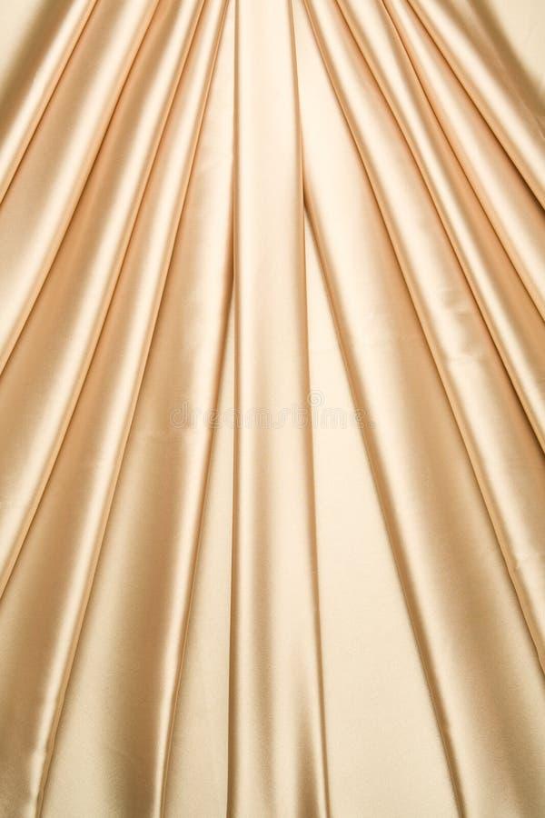 zasłona atłas złoty deseniowy fotografia stock